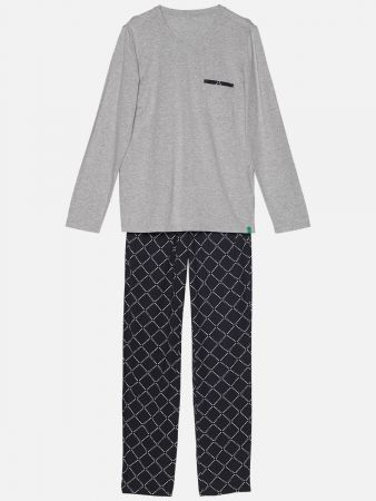 Diamond Grey - Pyjama - Grau-Bunt