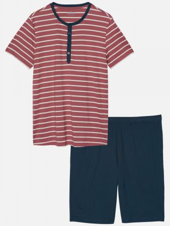 Route Essentials - Pyjama - Rot-Bunt