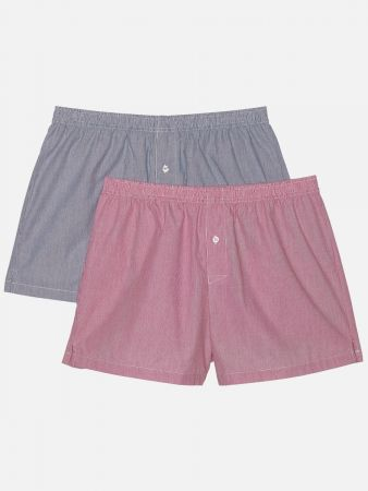 Casual Boxers - Boxershorts - Rot-Bunt