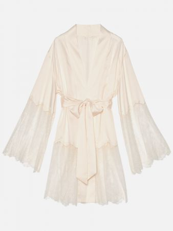 Crystalle Dnw - Morgenmantel - Offwhite