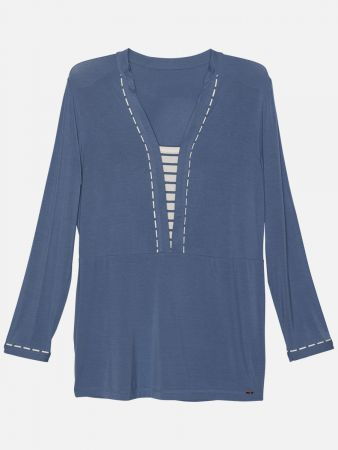 Stripy Essentials - Nachtwäsche Shirt - Blau