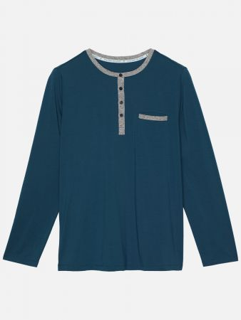 Noble Stripe Nights - Shirt - Blau
