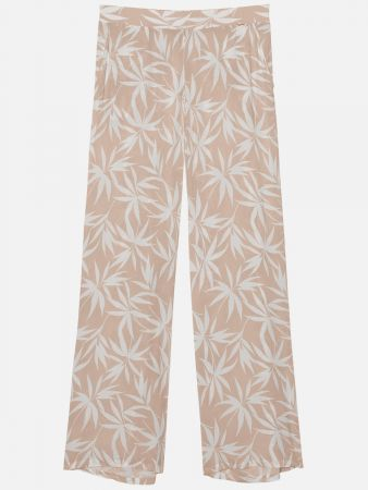 Palm Leaves - Hose - Beige-Weiß