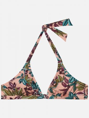 Harbour Island Floral - Triangel Bikini-Top - Rosa-Bunt