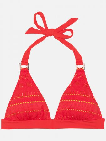 Bond Jaquard - Triangel Bikini-Top - Orange
