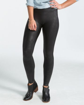 Faux Leather Leggings - Legging - Schwarz