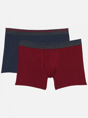 Authentic Modal - Pants - Rot-Marine