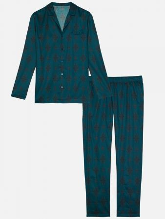 Imperial Night - Pyjama - Blau-Bunt