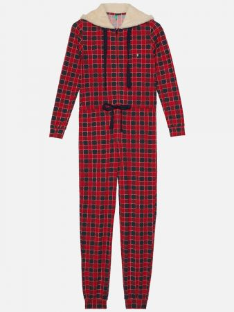 Princess Check - Jumpsuit - Rot-Bunt
