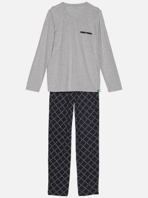 Diamond Grey - Pyjamahose - Grau-Bunt