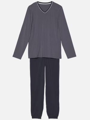 Night Essentials - Pyjama - Grau-Bunt