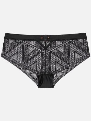 Privee Chevron - Panties - Schwarz