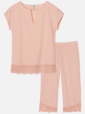 Deluxe Cotton Nights - Pyjama - Pfirsich