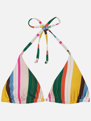 Santos Beach Stripe - Triangel Bikini-Top - Bunt