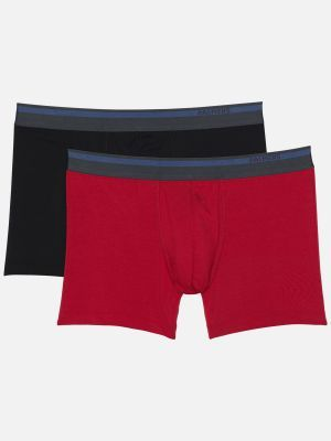 Authentic Modal - Pants - Rot-Schwarz # 2