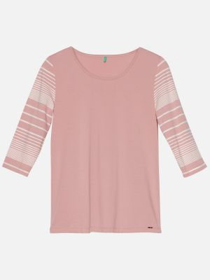 Chancy Stripe - Nachtwäsche Shirt - Rose-Bunt